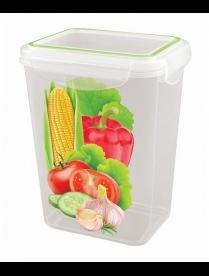 """(86692) С11239 Контейнер для холодильника и микроволновой печи """"SUPER LOCK"""" с декором 1,4л"""