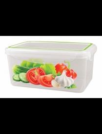 """(86691) С11236 Контейнер для холодильника и микроволновой печи """"SUPER LOCK"""" с декором 1,6л"""