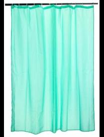 461-453 Шторка для ванной, ткань полиэстер однотонная зеленая, 180*180см.