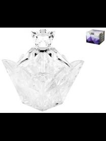 (88036) DSTG22 Ваза с крышкой 10см DSTG22 гранение лед