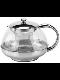 (85011) BJ01-F600 Чайник заварочный 600 мл. стекло, нерж. сталь