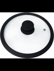 003543 Крышка стеклянная с силиконовым ободком, серия CAPPELLO, 22 см диа, сил ручка, тм Mallony