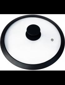 003545 Крышка стеклянная с силиконовым ободком, серия CAPPELLO, 26 см диа, сил ручка, тм Mallony