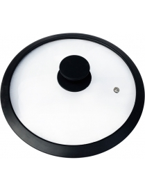 003546 Крышка стеклянная с силиконовым ободком, серия CAPPELLO, 28 см диа, сил ручка, тм Mallony