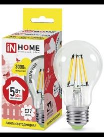 016.2539 LED-A60-deco 9Вт 230В Е27 3000К 810Лм прозрачная IN HOME