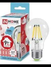 016.2540 LED-A60-deco 9Вт 230В Е27 4000К 810Лм прозрачная IN HOME
