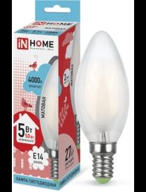 016.2507 LED-СВЕЧА-deco 5Вт 230В Е14 3000К 450Лм матовая IN HOME