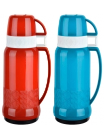 003689 Термос в пластик корп, объем -1 л,стекл колба с 2-ми стенками (2 чашки), серия FINEZZA, тм Ma