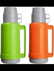 003685 Термос в пластик корп, объем -1,8л,стекл колба с 2-ми стенками (2 чашки), серия CALOROSO, тм