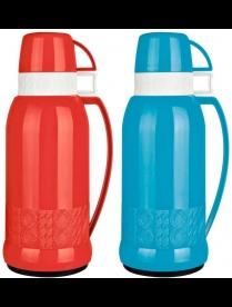 003690 Термос в пластик корп, объем-1.8л,стекл колба с 2-ми стенками (2 чашки), серия FINEZZA, тм Ma