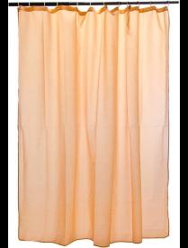 461-451 Шторка для ванной, ткань полиэстер однотонная бежевая 180x180см