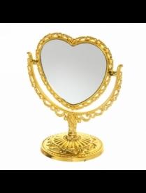 Зеркало настольное в резной оправе Версаль-сердце 15-12 см