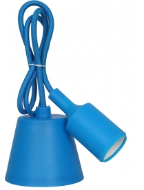 0272020 IN HOMEПатрон Е27 силиконовый со шнуром 1м синий