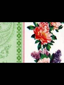 (80857) 017/3 Клеенка ПЕРМСКАЯ тк/о 130см*25м Цветочная дорожка зеленая