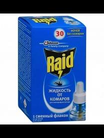 (83154) Ср-во от комаров РЕЙД жидкость 30ночей 21,9 мл (1*24) срок 12.2018г.(1183)