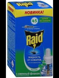 (83155) Ср-во от комаров РЕЙД жидкость 45 ночей Эвкалипт 32,9 мл (1*24) срок 12.2018г(1763).