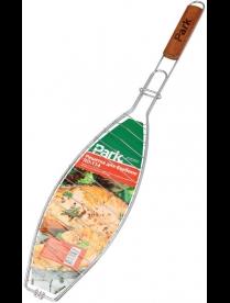 321204 Решетка для барбекю PARK RD-114 (универс. рыба/мясо, р-р 40х15х2см, общая длина 68 см, хром.)