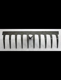 Грабли 10-ти зубые прямые, эмаль 3мм. б/ч ГП-10
