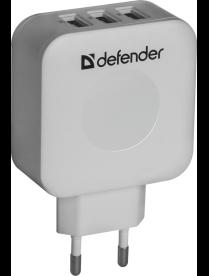 DEFENDER UPA-30 3 порта USB, 5V / 4A 83535
