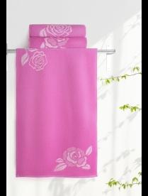 Полотенце Aquarelle МХ42 70/140 Розы розово-персиковый/нежно розовый-орхидея