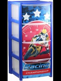 Комод детский ДЕКО (4 секции) гонки М2792
