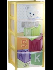 Комод детский ДЕКО (4 секции) кубики М2792