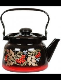 (93309) С2714.38 Чайник 2,3л красно-черный декор с пл. кнопкой (4) С2714.38