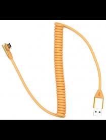 Кабель USB 2A Орбита KM-140 витой (microUSB) 1м