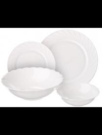818-997 MILLIMI Бьянко Набор столовой посуды 19 пр., W-19B6-WHITE
