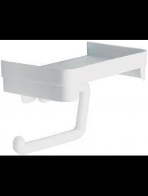 (94123) М2224 Держатель для туалетной бумаги с полочкой Белый