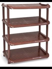 (094570) С92402 Этажерка для обуви Комфорт (4 полки) коричневая