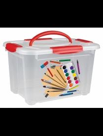 """(94629) С32026 Коробка универсальная с ручкой и декором """"Детское творчество"""" 5,5л"""