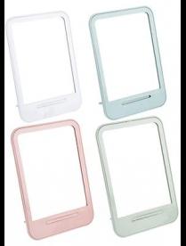 347-070 Зеркало настольное, стекло, пластик, 14х19,6см