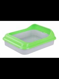 """Лоток-туалет д/животных """"Барсик"""" с рамкой зеленый-серый М6931"""