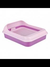 """Лоток-туалет д/животных """"Феликс"""" с решеткой фиолетовый-розовый М6933"""