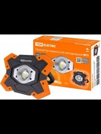 SQ0350-0055 Прожектор переносной светодиодный ФП5, 15 Вт, 1250 лм, Li-Ion 3,7 B 6,6 A*ч, USB, TDM