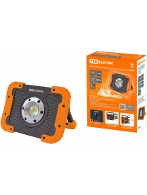 SQ0350-0057 Прожектор переносной светодиодный ФП8, 10 Вт, 900 лм, Li-Ion 3,7 B 3 A*ч, USB, TDM