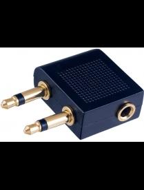 PERFEO Переходник д/авианаушников 2xJack 3.5 мм вилка - Jack 3.5 мм розетка, стерео-аудио (A7014)