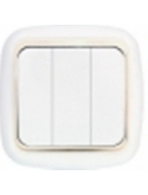 С056-170 з Выключатель 3СП Гармония люкс с зол.рам