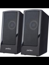 "Perfeo колонки ""CALIBR"", 2.0, мощность 2х3 Вт, чёрн, USB А4426"