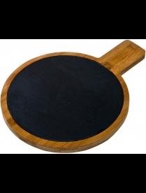 Доска разделочная AGNESS 29,5*22*1,5 см. бамбук, сланец 897-061