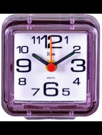 """Будильник В1-004 кварц, корпус розовый """"Классика"""""""