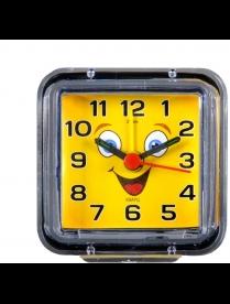 """Будильник В1-015 кварц, корпус прозрачный """"Смайлик с улыбкой"""""""