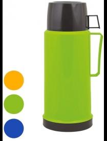 001721 Термос Mallony 2644H, 1 л, стекло (цв.синий, зелен.,оранж.)