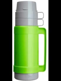 003675 Термос в пластик корп, объем -1 л, стекл колба с 2-ми стенками (2 чашки), серия CALOROSO, тм