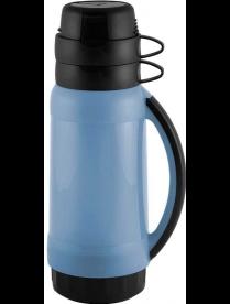 005504 Термос в пластик корп, стекл колба, 1,0 л, 2 чашки, серия PRATICO,