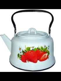 (96211) С2713*59 Чайник 3,5л белый Клубника садовая с петлей (зак.дно) (4) С2713*59