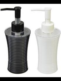 463-839 VETTA Дозатор для жидкого мыла полосатый, пластик, 180мл,2 цвета
