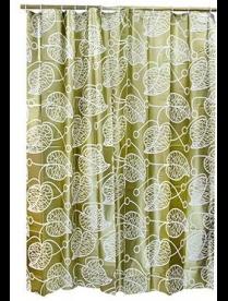 461-499 VETTA Шторка для ванной, ЕВА, 180х180см, золотые и серебряные листья