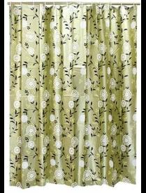 461-498 VETTA Шторка для ванной, ЕВА, 180х180см, золотые и серебряные цветы